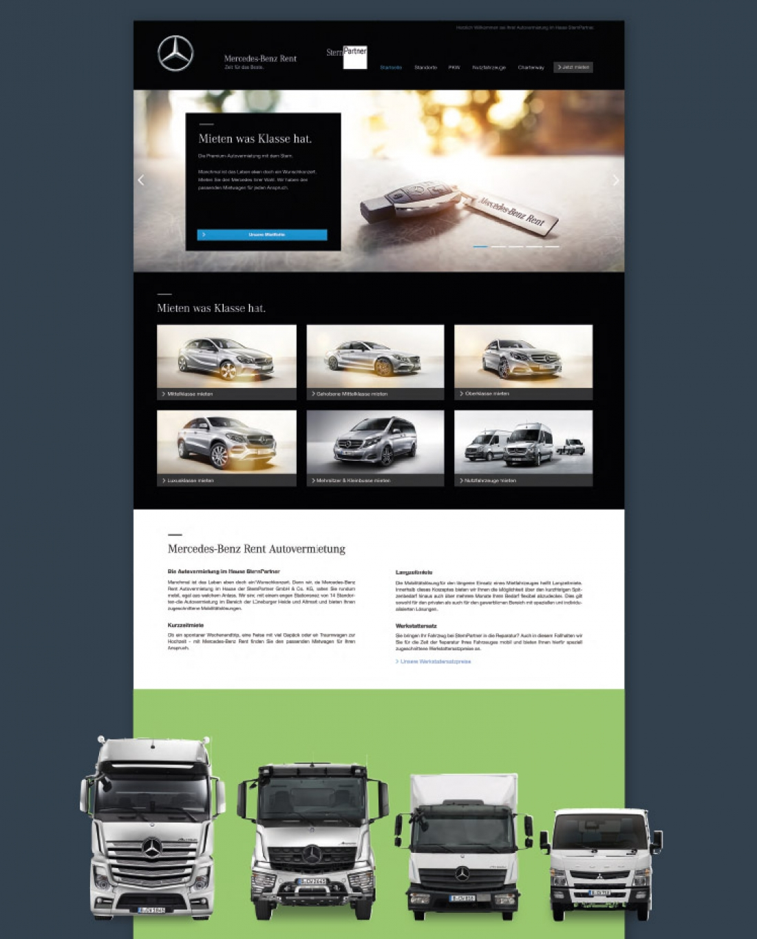 Website Mercedes-Benz Rent