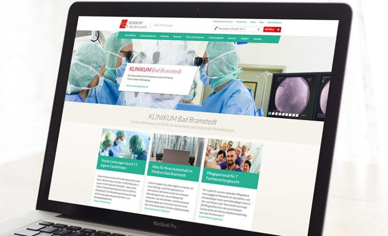 Website Klinikum Bad Bramstedt