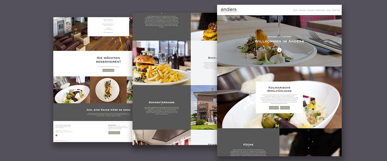 Webdesign anders Restaurant